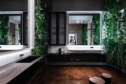 Salle de bain avec une ambiance nature