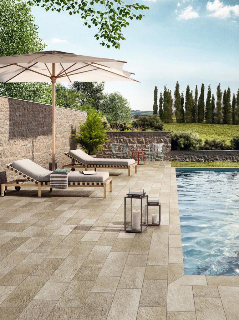 Carrelage exterieur et piscine