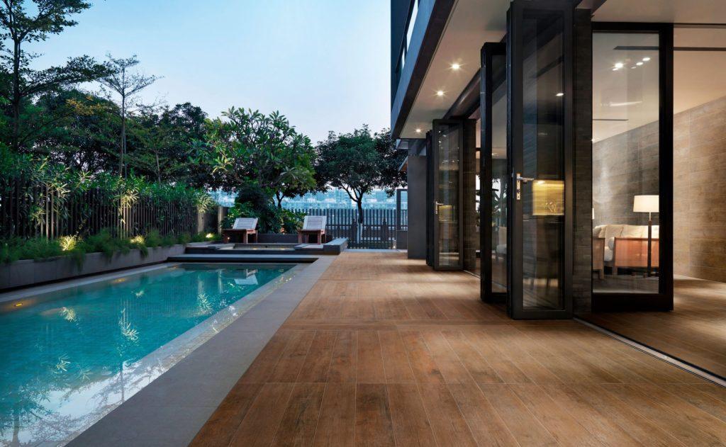 Terrasse imitation parquet