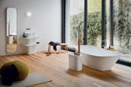 salle de bain moderne baignoire ilot